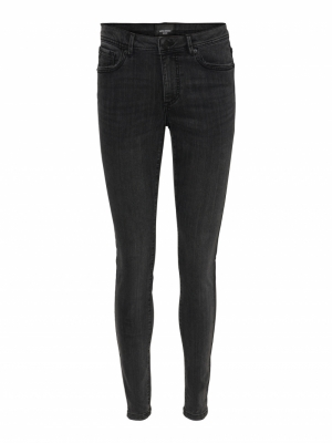 VMTANYA MR S PIPING JEANS VI20 Dark Grey Denim