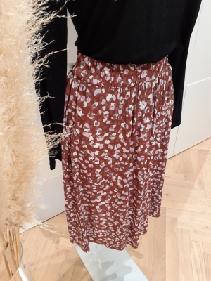 PCRAYA HW MIDI SKIRT Root Beer/ANIMA