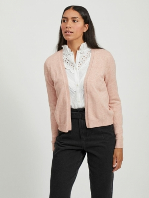 VIRIL SHORT L-S KNIT CARDIGAN- Misty Rose/MELA