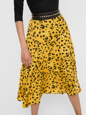 JDYROCK ABOVECALF SKIRT WVN Harvest Gold/LE