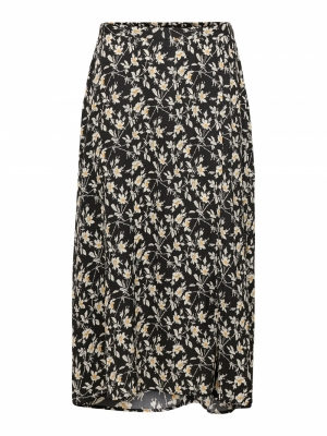 JDYROCK ABOVECALF SKIRT WVN Black/FLOWER