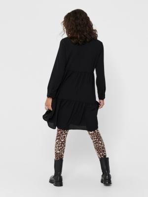 JDYPIPER L-S SHIRT DRESS WVN N Black