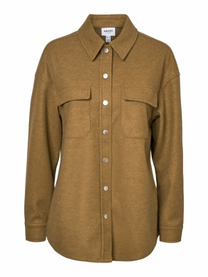 VMOCEAN LS SHIRT VMA Tobacco Brown/M