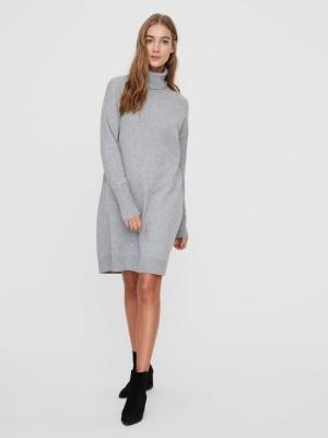 VMBRILLIANT LS ROLLNECK DRESS Light Grey Mela