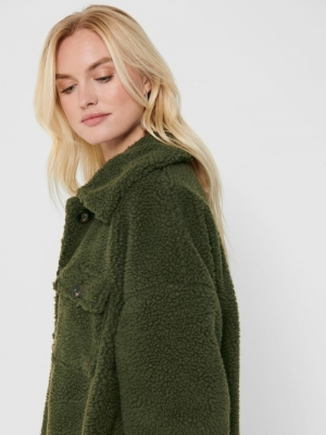 ONLCAMILLA LONG TEDDY SHACKET Forest Night
