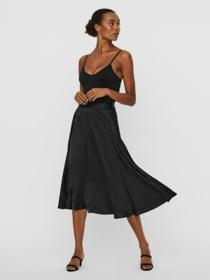 VMCHRISTAS CALF SKIRT EXP Black