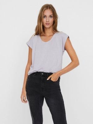 VMSHINE S-S LUREX TOP EXP Pastel Lilac/SI