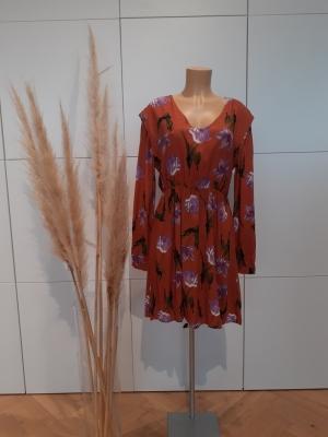 VMBETTY L-S SHORT DRESS WVN GA Auburn/BETTY