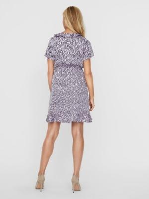 VMWAILEY S-S FRILL SHORT DRESS Pastel Lilac/WA