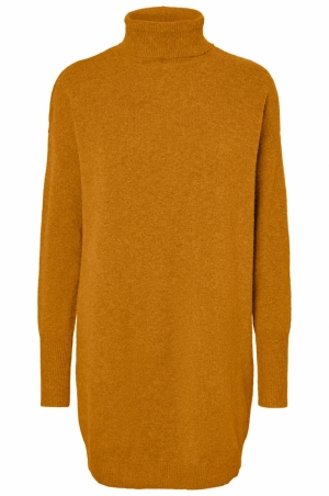 VMBRILLIANT LS ROLLNECK DRESS Buckthorn Brown