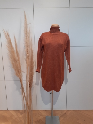 VMBRILLIANT LS ROLLNECK DRESS Auburn/MELANGE