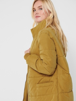 JDYNOBLE X-LONG COLLAR JACKET Golden Brown