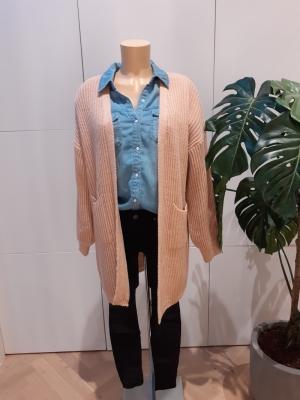 cardigan dj85 lang roze