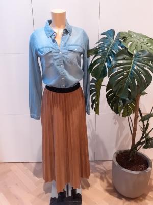 plisse skirt 7504 leatherlook logo