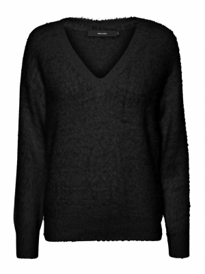 VMPOILU LS V-NECK BLOUSE LCS Black