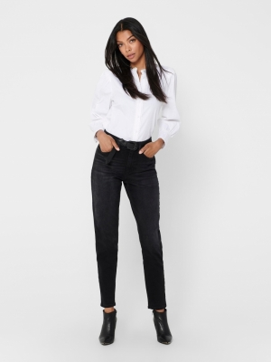 ONLVENEDA LIFE MOM JEANS REA46 Black Denim