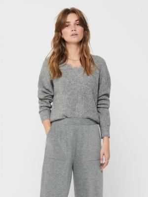 ONLAUROLA L-S PULLOVER KNT Medium Grey Mel