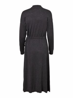 VMSHARM LS HIGHNECK DRESS GA V Dark Grey Melan