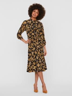 VMFILIPPA 34 CALF DRESS WVN Sunflower/FILIP