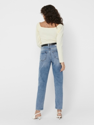 ONLVENEDA LIFE MOM JEANS REA74 Light Blue Deni