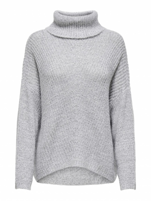 JDYNAGEEM MEGAN L-S ROLLNECK P Cloud Dancer/W