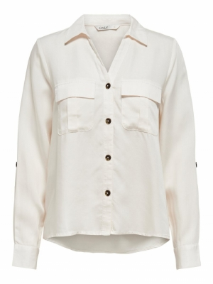 ONLKAJA LS SHIRT WVN Cloud Dancer