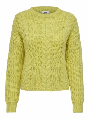 JDYNICOLA L-S CABLE  PULLOVER Muted Lime/MELA