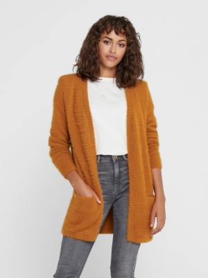 JDYPLEXI L-S CARDIGAN KNT Leather Brown