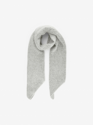 PCPYRON LONG SCARF LUREX NOOS Light Grey Mela