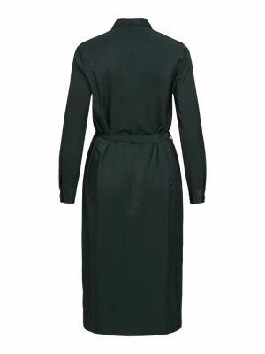 OBJEILEEN L-S SHIRT DRESS SC Scarab