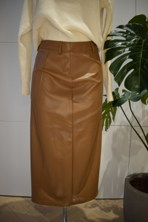 ONLRUMA SKIRT  PU Warm Sand