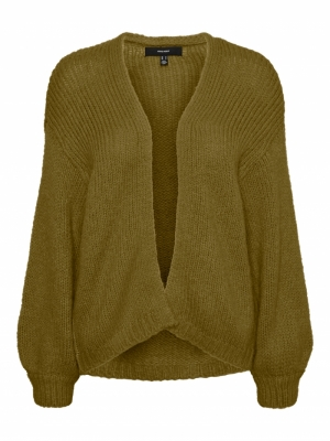 VMMABY LS OPEN CARDIGAN LCS RE Fir Green