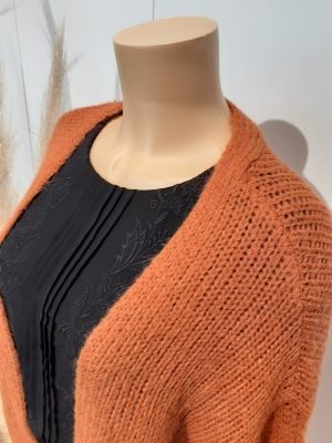 VMMABY LS OPEN CARDIGAN LCS RE Auburn
