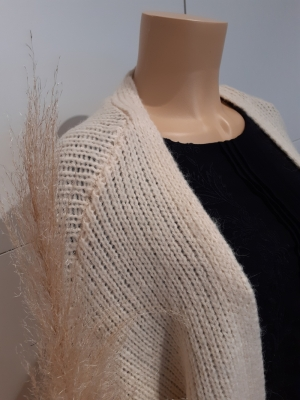 VMMABY LS OPEN CARDIGAN LCS RE Birch
