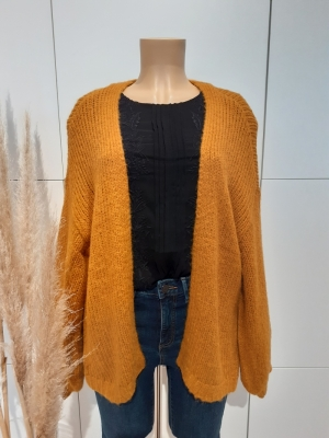 VMMABY LS OPEN CARDIGAN LCS RE Buckthorn Brown