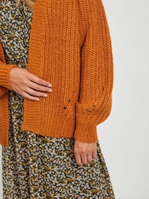 VISUBA KNIT OPEN L-S CARDIGAN Pumpkin Spice/M