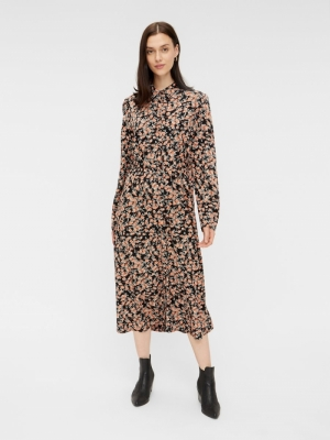 PCRANDY LS SHIRT MIDI DRESS BC logo