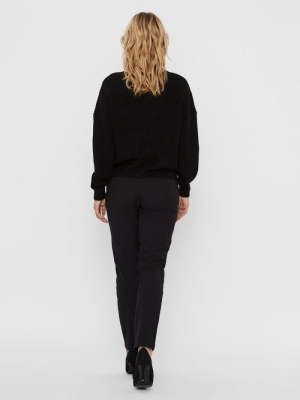 VMLEA LS V-NECK CARDIGAN PI Black