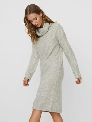 VMGAIVA LS COWL NECK DRESS GA Light Grey Mela