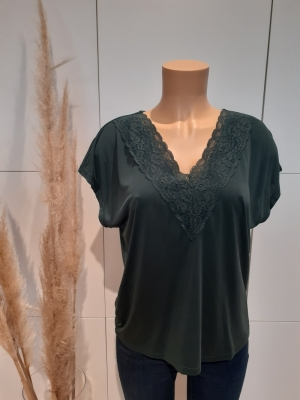 VMBIA SS LACE TOP JRS BF Pine Grove