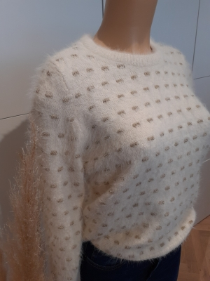 VMPOILU DOT LS BLOUSE LCS Birch/W. GOLD L