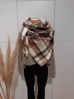 PCREGGIE SQUARE SCARF Natural