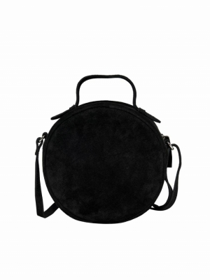 ONLALISON ROUND LEATHER CROSSO Black