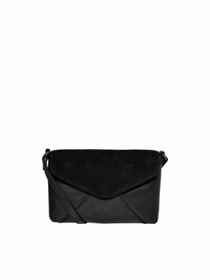 ONLCLARA ENVELOPE LEATHER CROS Black