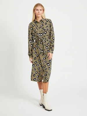 VIKARLA L-S SHIRT DRESS-ZA logo