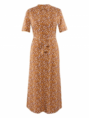 VISHILA S-S SHIRT DRESS Pumpkin Spice/P