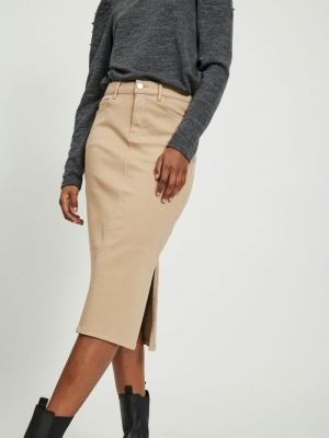 VIAMY RW PENCIL SKIRT Nomad
