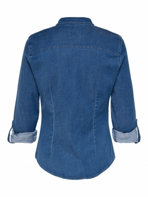 ONLROCKIT LIFE DENIM LS SHIRT Medium Blue Den