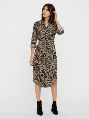 VMLISA GRAFFIC LS SHIRT DRESS Laurel Oak/LISA