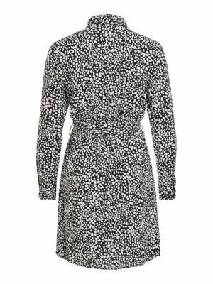 VINOUDINE L-S SHIRT DRESS Black/CLOUD DAN